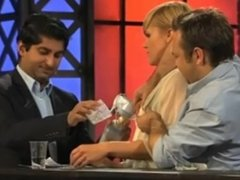Live Interview Show. Blonde Milking Tits