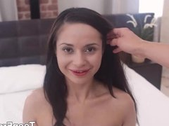 Girl knows how to massage cock with ass
