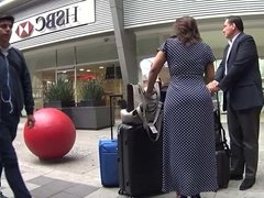 super hot milf with big butts in dress