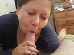 My cumslut wife sucks my cock and licks my balls