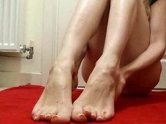 Sexy feet teasing by Feet Mistress