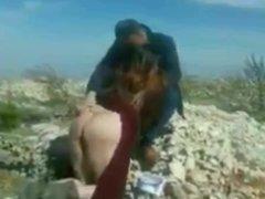 Turbanli Karisini Acik Havada Siktiriyor Turkish Cuckold