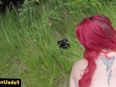 Pussylicked redhead brit cockrides officer