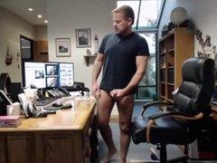 dad exposed, masturbating at work