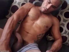Young Latino Marco Jerking Off