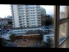 hotel window blow job