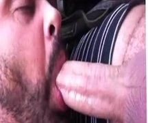 Cock of a married man sucked by me in public in his car