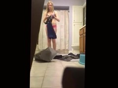 Sister changing in the bathroom HD