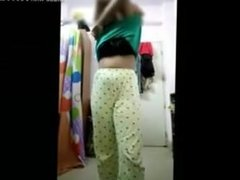 big boob girl stripping making vid
