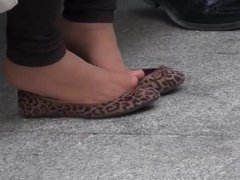 candid nylon and flats shoeplay