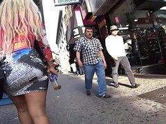 miniskirt in downtown