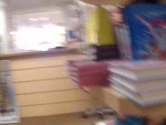 Bookstore wank (no cum)