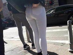 Girl walk on street 10