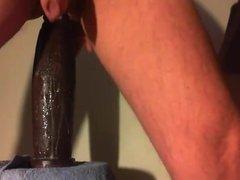 Sloppy anal ride with the Boss Hogg XXL toy form Mr. Hankey