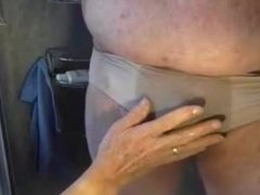 Steve pees in my wife's panties & I play with his wet willy