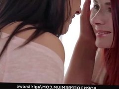 A GIRL KNOWS - Erotic lesbian teasing with two beauties