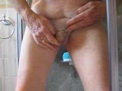 Washing my little uncut willy in the shower