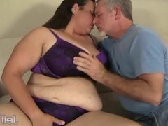 Fat Latina Is Fucked by a Horny Guy with a Goatee