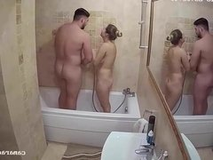 Daughter Fucks Step-Dad While Mom Showers Reallifecam Voyeur