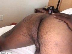 Rimmed black stud barebacked in threesome