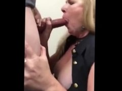 Cheating wife sucks me off at work