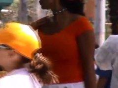 Candid Boobs: Slim Busty Hispanic Woman 11