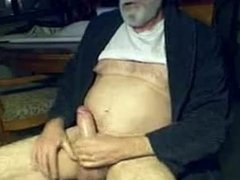 Big dick daddy stroking his cock