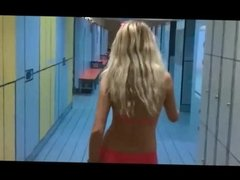 hot blonde sucks and fucks in the changing room at the pool