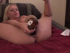 Blonde Girl Stuffs Her Pussy With Dildos - Part 2