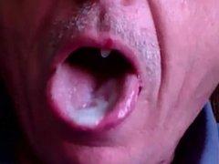 Close Up Cum In My Mouth 2