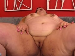 BBW Fingers Her Pussy Before Receiving a Fucking