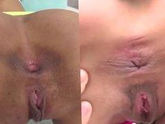 Gaping anal sweet ass