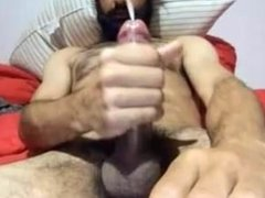 Hairy Str8 Guy with Bigcock Busts a Nut #160