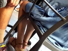 her crossed legs sexy long feets hot long toes