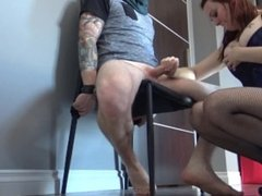 Mom In Control - MILF Uses Tied Neighbor To Please Herself & Get Cum Filled