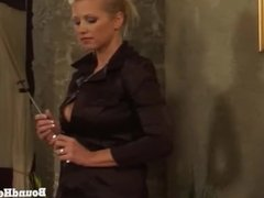 On Consignment 3: Curvy Lesbian Mistress Bounds And Brands Her Slave