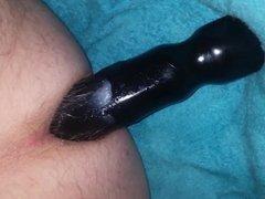 Dildo anal juicy