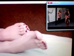 Feet and toes while watching TV
