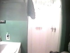 Voyeur teen changing and shower 5
