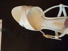 Cum on high heeled sandals
