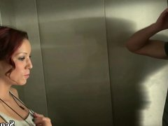 18yr old German redhead Teen Seduce to Fuck by in Lift