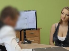 Hot Girl with Huge Tits looking for a loan to repair her husband's car