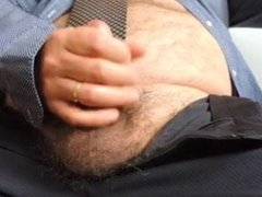 Suited dad wank and cum for the cam