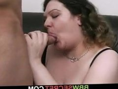 BBW seduces married guy into cheating sex