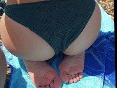 Public Beach Masturbation (Jessica's Ass)