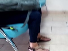 Candid her cute perfect feets natural toes