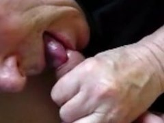 Senior grandpa playing with a cock