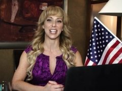 Milf Cherie Deville Takes on Huge Dick to Fix America