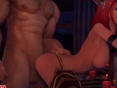 Big tits Alexstrasza gets fucked hard by big dick