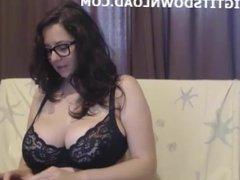 Big breasted girl on webcam
